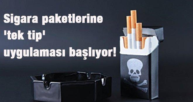 Sigara paketlerine 'tek tip' uygulaması başlıyor!