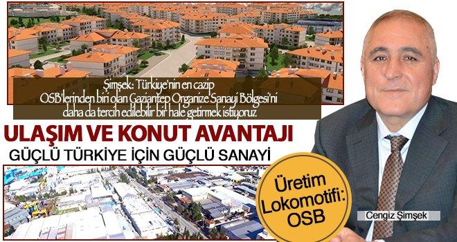 Şimşek: OSB'ye değer katacak projelere ağırlık vereceğiz