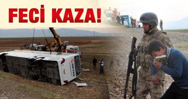 Sınırda facia! Otobüs kazasında 9 ölü, 28 yaralı!