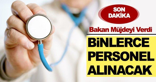 Son dakika! Sağlık Bakanlığı'na binlerce personel alınacak