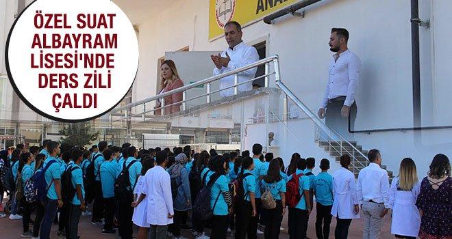 Suat Albayram öğrencileri ders başı yaptı