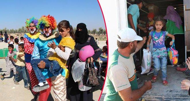 Suriye'de çocuklar için oyuncak şenliği