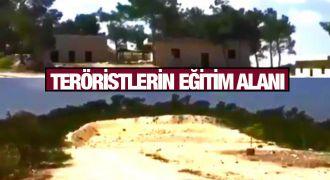 Afrin'de teröristlerin çocukları eğittiği kamp görüntülendi