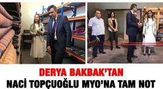 Derya Bakbak'tan MYO'ya tam not