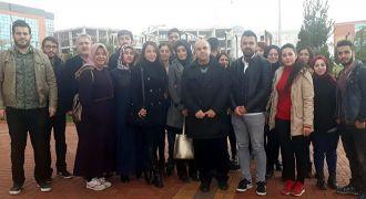 GAÜN öğrencilerinden Afrin şehidine taziye ziyareti