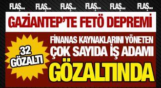 Gaziantep'te büyük FETÖ operasyonu: 32 gözaltı! İşte o isimler