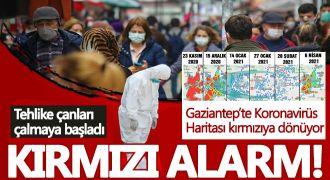 Gaziantep'te koronavirüste kırmızı alarm!
