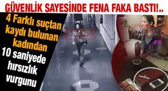 Hastanede  hırsız, güvenlik kamerasından kaçamadı