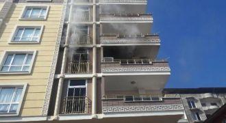 İslahiye'de Apartmandaki yangın korkuttu