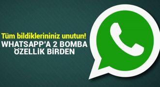 WhatsApp'a 2 bomba özellik birden geliyor