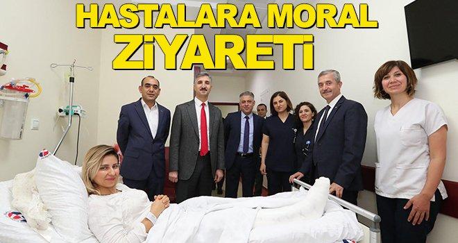 Tahmazoğlu'ndan hastalara ziyaret