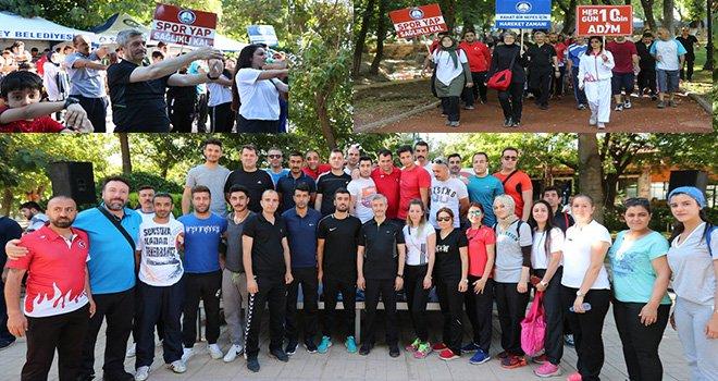 Tahmazoğlu'ndan Spora teşvik yürüyüşü