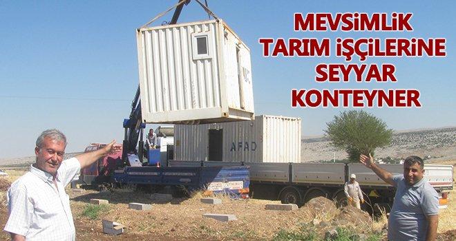 Tarım işçileri için hijyen kurallarına uygun konteyner kuruldu