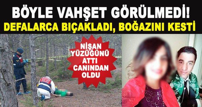 Tartıştığı nişanlısını ormanda boğazından  keserek öldürdü