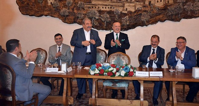 TİM başkan adayı İsmail Gülle Gaziantep'te
