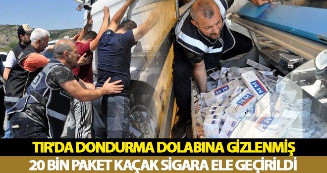TIR'da 20 bin paket kaçak sigara ele geçirildi: 2 gözaltı