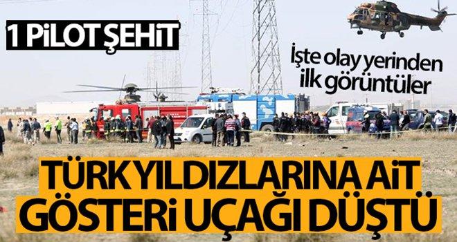 Türk Yıldızlarına ait eğitim uçağı düştü: 1 pilot şehit