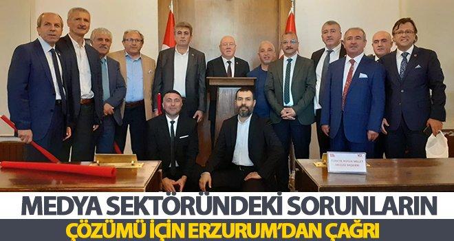 Türkiye Gazeteciler Konfederasyonu Yönetim Kurulu Erzurum'da