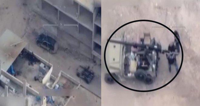 Türkiye'ye roket atan sivil teröristler görüntülendi