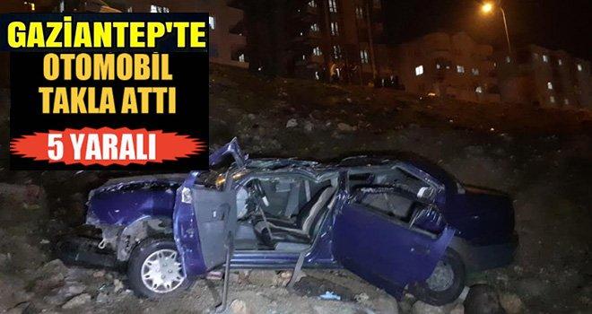 Üzerine gelen araçtan kaçtı takla attı: 5 yaralı