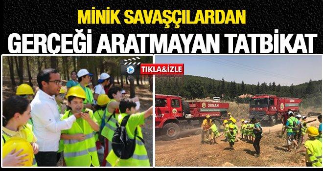 Gaziantep Orman İşletme müdürlüğünün tatbikatı nefes kesti!