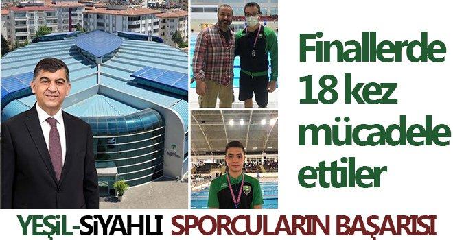 Yeşil-siyahlı sporcular, paletli yüzmede 7 madalya kazandı