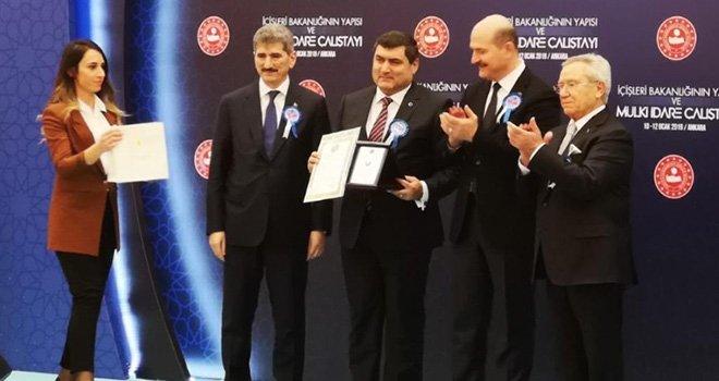 Yılın Kaymakamı ödülü Nizip'e:Ödülü Bakan Soylu verdi