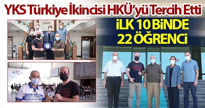 YKS Türkiye İkincisi HKÜ'yü Tercih Etti