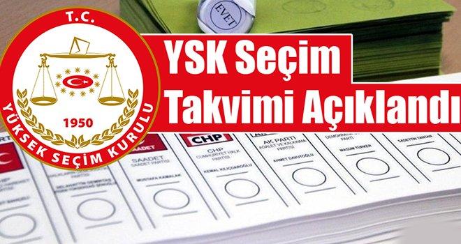 YSK, seçim takvimini açıkladı! İşte son başvuru tarihleri