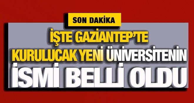 Zirve üniversitesi'nin yerine kurulacak olan üniversitesinin adı belli oldu
